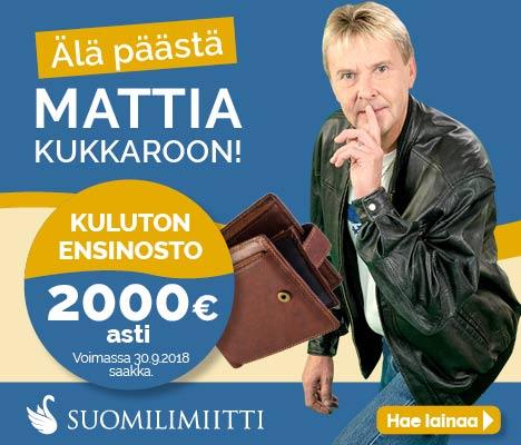 Suomilimiitti - 2000 € kuluton ensinosto